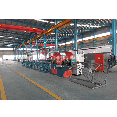 reinforcing wire straightening and cutting machine