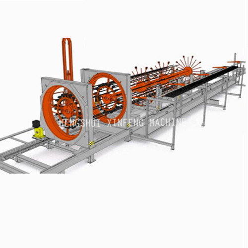 Steel bar cage rolling welded machine